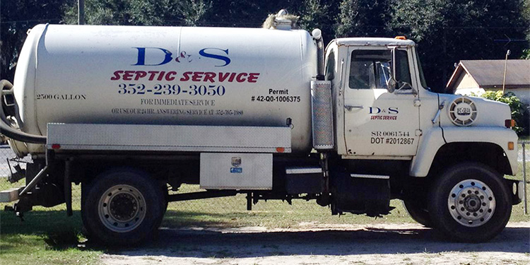 White Septic Company Truck | Septic Repair in Citra, FL